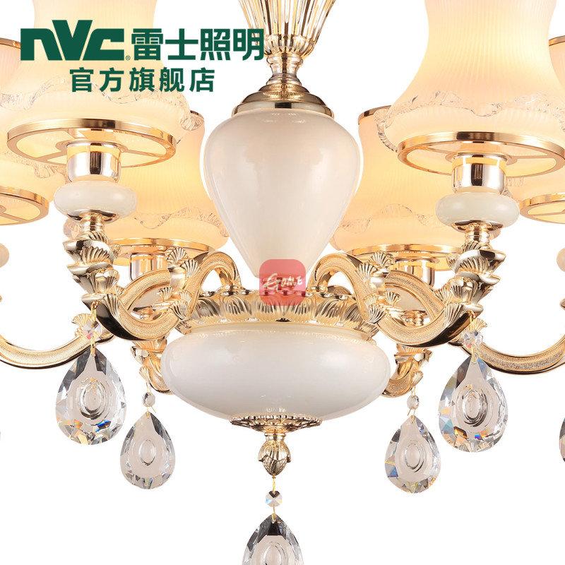雷士照明 欧式客厅吊灯 奢华卧室餐厅灯现代简约创意灯饰灯具(6头(需