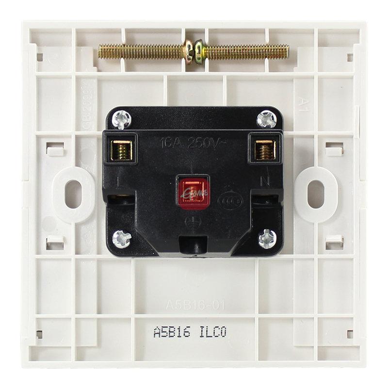 施耐德 a5莹润系列 16a三孔插座 空调插座 78001461