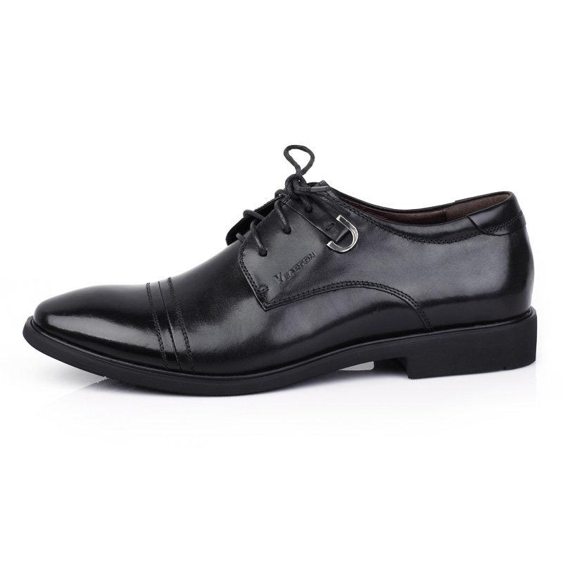意尔康男鞋时尚英伦商务正装皮鞋男士办公室真皮百搭皮鞋男51301(棕色 51301 38)第5张商品大图