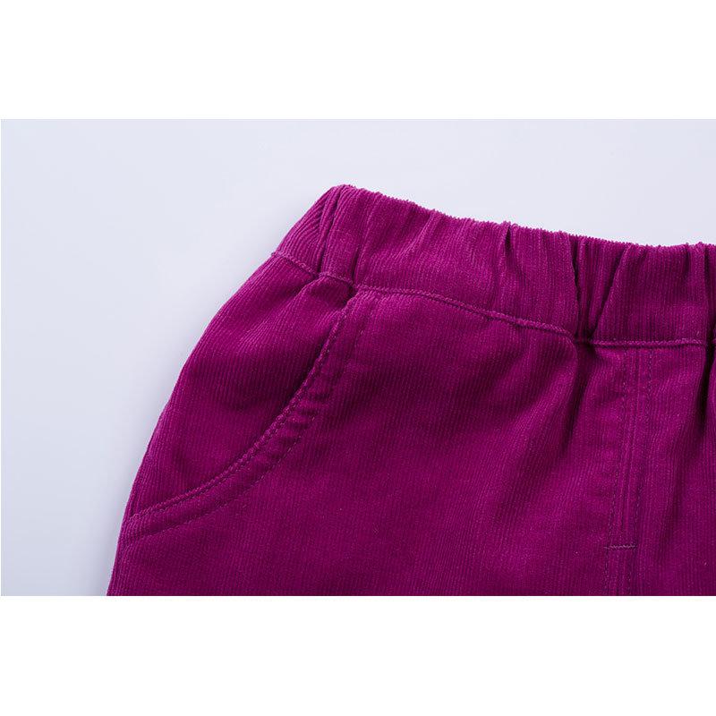 贝贝怡 2014新品婴儿服饰 灯芯绒长裤男女宝宝长裤143K026(紫红 90cm)第4张商品大图