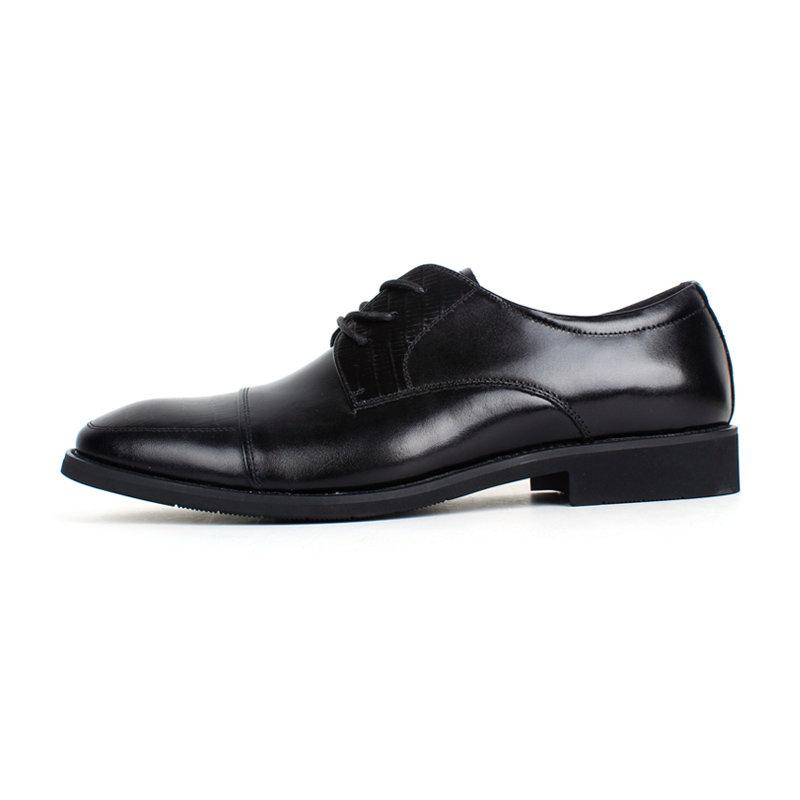 意尔康低帮系带鞋真皮男士商务正装鞋百搭皮鞋英伦男单鞋97278(黑色 40)第4张商品大图