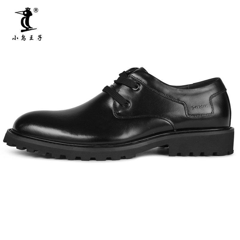 小鸟王子 2014冬季新款男士皮鞋正装鞋通勤男鞋婚鞋头层牛皮鞋8811(黑色 43)第2张商品大图