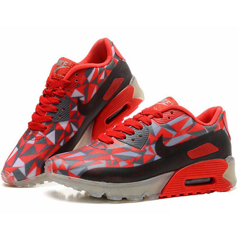 Nike耐克2014新款 AIR MAX90男女气垫鞋跑步鞋运动鞋休闲鞋 8057(红黑 39)第2张商品大图